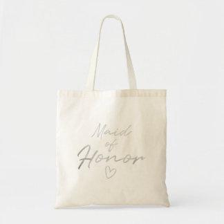 Bolsa Tote Madrinha de casamento - sacola de prata da folha
