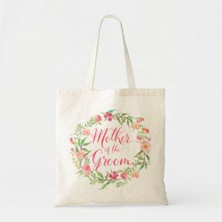 Bolsa Tote Mãe da aguarela Wreath5 floral do noivo