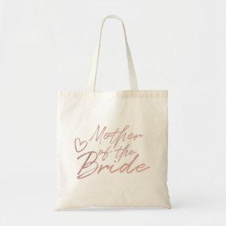 Bolsa Tote Mãe da noiva - o falso cor-de-rosa do ouro foil a