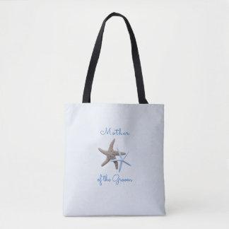 Bolsa Tote Mãe de duas estrelas do mar do saco do noivo/noiva