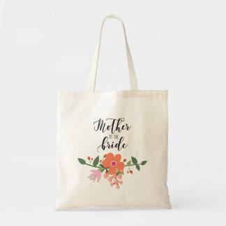 Bolsa Tote Mãe do buquê floral da noiva