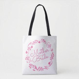 Bolsa Tote Mãe do rosa Wedding da grinalda da queda da noiva