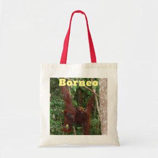 Bolsa Tote Mãe e bebê do orangotango de Bornéu