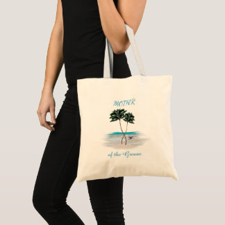 Bolsa Tote Mãe entrelaçada da praia das palmas da sacola do