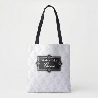 Bolsa Tote Mãe luxuoso da sacola do casamento do noivo