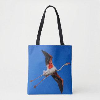 Bolsa Tote Maior flamingo, roseus do phoenicopterus