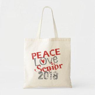 Bolsa Tote Mais velho 2018 do amor da paz