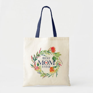Bolsa Tote Mamã colorida do Grinalda-Animal das flores nunca