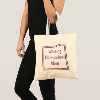 Bolsa Tote Mamã de trabalho de Homeschool