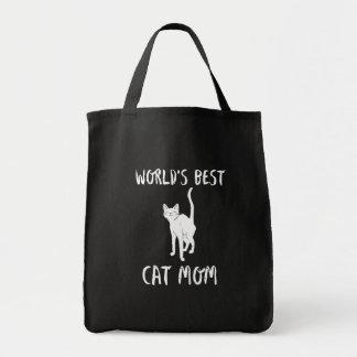Bolsa Tote Mamã do gato do mundo arte animal bonito da