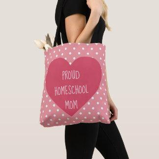 Bolsa Tote Mamã orgulhosa bonita de Homeschool