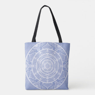 Bolsa Tote Mandala do mirtilo