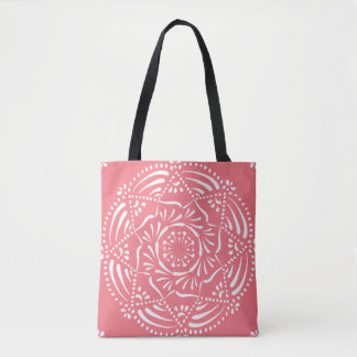 Bolsa Tote Mandala do pêssego