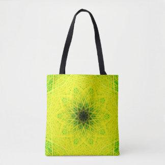 Bolsa Tote Mandala verde natural