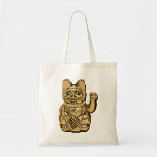 Bolsa Tote Maneki dourado Neko