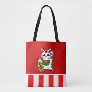 Bolsa Tote Maneki Neko: Gato afortunado japonês