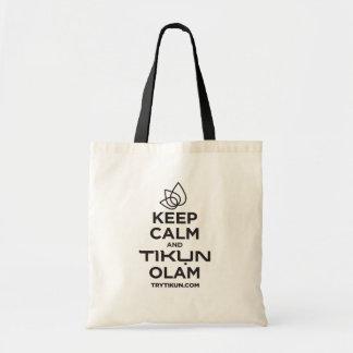 Bolsa Tote Mantenha a calma e leve uma sacola