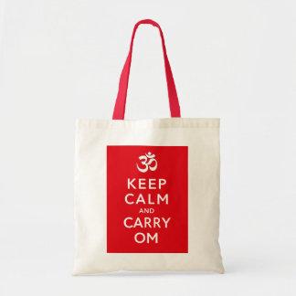 Bolsa Tote Mantenha artesanatos calmos e do carregar do OM e