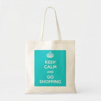 Bolsa Tote Mantenha calmo e vá saco de compras