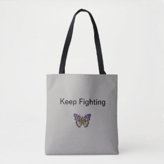Bolsa Tote Mantenha lutar a sacola da fibromialgia
