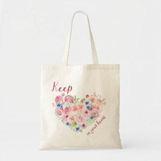 Bolsa Tote Mantenha o amor em seu coração