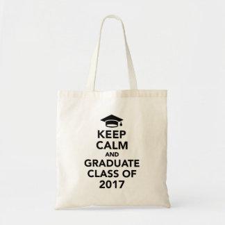 Bolsa Tote Mantenha uma classe calma e graduada de 2017