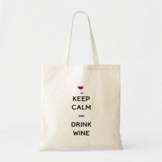 Bolsa Tote Mantenha vinho calmo e da bebida
