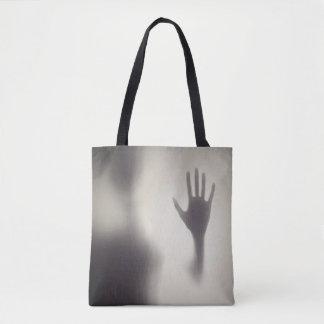Bolsa Tote Mão assustador na sacola de vidro do Dia das