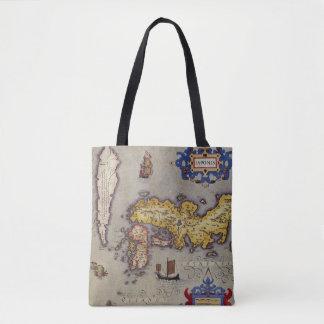 Bolsa Tote Mapa antigo de Japão por Mercator e por Hondius,
