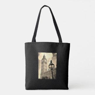 Bolsa Tote Mapa de Londres do vintage/sacola de Big Ben