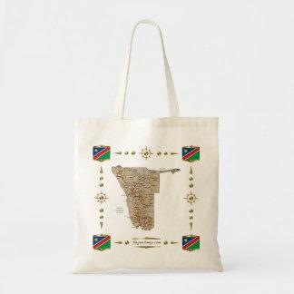 Bolsa Tote Mapa de Namíbia + Saco das bandeiras
