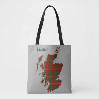 Bolsa Tote Mapa de Scotland do Tartan de MacGregor