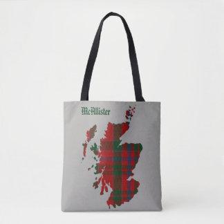 Bolsa Tote Mapa de Scotland do Tartan de McAllister