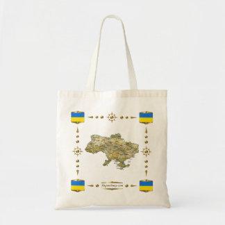 Bolsa Tote Mapa de Ucrânia + Saco das bandeiras
