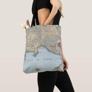 Bolsa Tote Mapa do golfo de Nápoles e de arredores