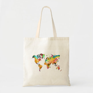 Bolsa Tote mapa do mundo