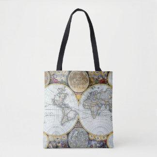 Bolsa Tote Mapa do mundo antigo, atlas Maritimus pelo