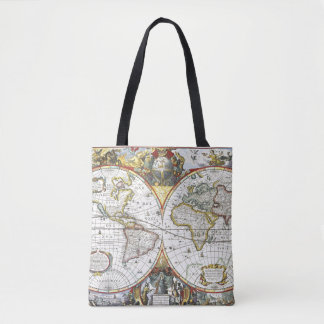 Bolsa Tote Mapa do mundo antigo por Hendrik Hondius, 1630