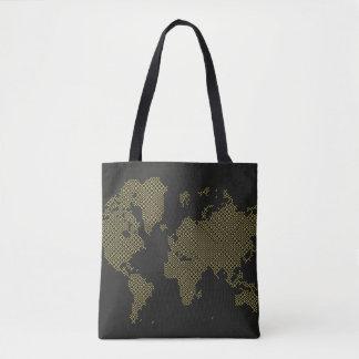 Bolsa Tote Mapa do mundo de Digitas