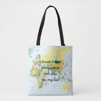 Bolsa Tote Mapa do mundo - eu não estive em toda parte…