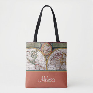 Bolsa Tote Mapa | do vintage personalizado