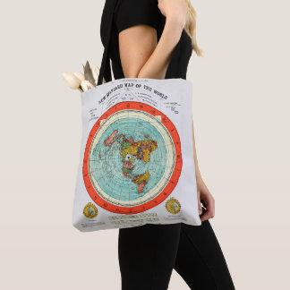 Bolsa Tote Mapa padrão novo da terra lisa Earther do mundo