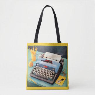 Bolsa Tote máquina de escrever dos anos 50