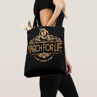 Bolsa Tote Março para a pro vida - escolha a sacola da vida