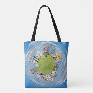 Bolsa Tote marco pequeno minúsculo do planeta de romania da