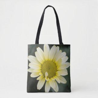 Bolsa Tote Margarida amarela e sacola do verde esmeralda