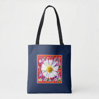Bolsa Tote Margarida no acolchoado colorido brilhante