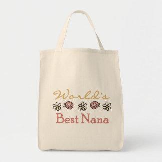 Bolsa Tote Margaridas e mundos a melhor Nana dos rosas