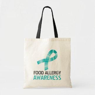 Bolsa Tote Máscaras da consciência da alergia de comida da