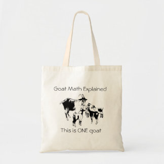 Bolsa Tote Matemática da cabra explicada